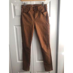 Levi's High Rise Skinny Caramel Jeans